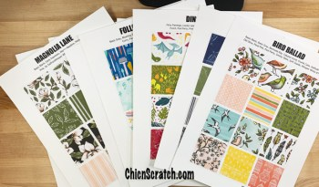 Stampin' Up! Catalog Designer Series Paper Charts