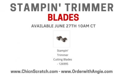Stampin Trimmer Blades