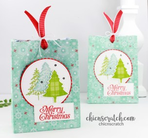 Christmas Gift Bag Featuring Perfectly Plaid