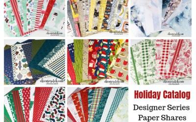Holiday Catalog Designer Series Paper Shares 2019