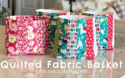 How to Make a Quilted Fabric Basket