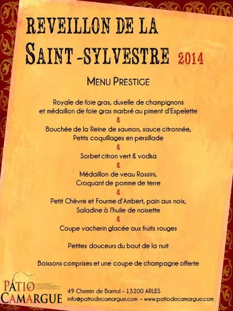 Rveillon De La Saint Sylvestre 2014 Le Patio De Camargue