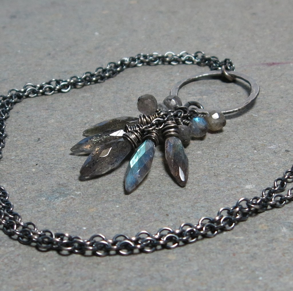 Vicki Potter, Labradorite Cluster Necklace, 2017, $128