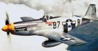 """P-51D Mustang aeronaves """"Tika IV"""" do 361 Exército dos EUA Grupo Flight, julho-dezembro 1944"""