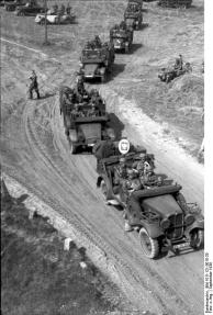 Polen, Kolonne motorisierter deutscher Truppen