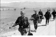Griechenland, deutsche Infanterie auf dem Marsch