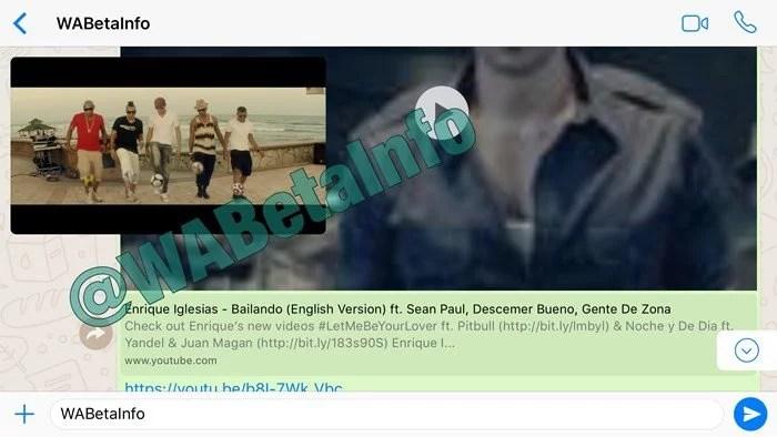 WhatsApp testa reprodução de vídeos do YouTube dentro do app