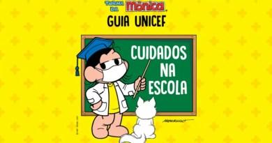 Turma da Mônica ilustra guia para retorno às aulas presenciais
