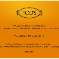 TODS Singapore Paragon/Takashimaya Up to 30% off sale
