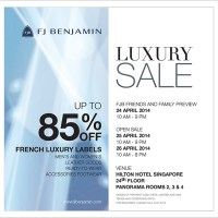 FJB Luxury Sale -24-26 April @ Hilton Hotel