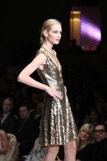 Chloe Dao Short Gold Gown