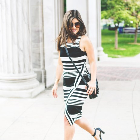 THE LITTLE BLACK AND WHITE DRESS