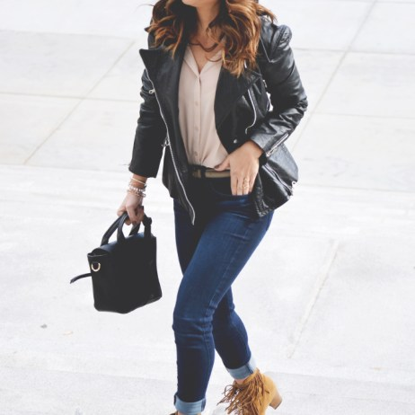 JEANS + LEATHER JACKET + PROMO CODES