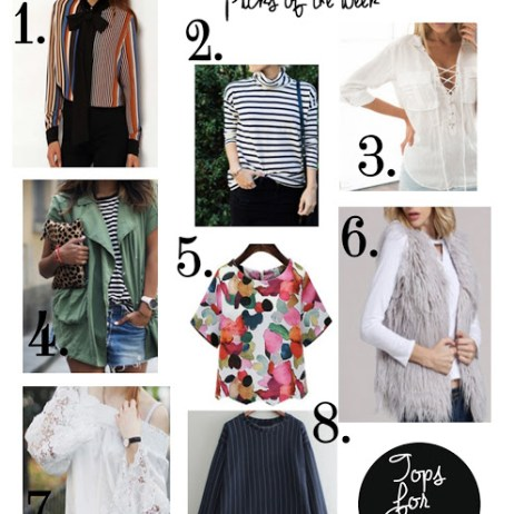 SHOPPING PICKS OF THE WEEK: 8 TOPS YOU WANT THIS SPRING