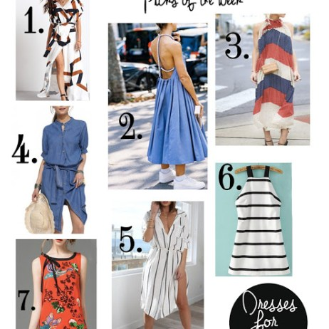 SHOPPING PICKS OF THE WEEK: SPRING DRESSES