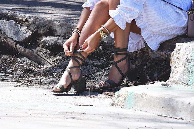 Lce up sandals by Public Desire