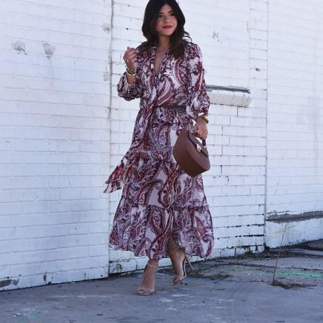 OLIVIA PALERMO+CHELSEA28 FLORAL DRESS