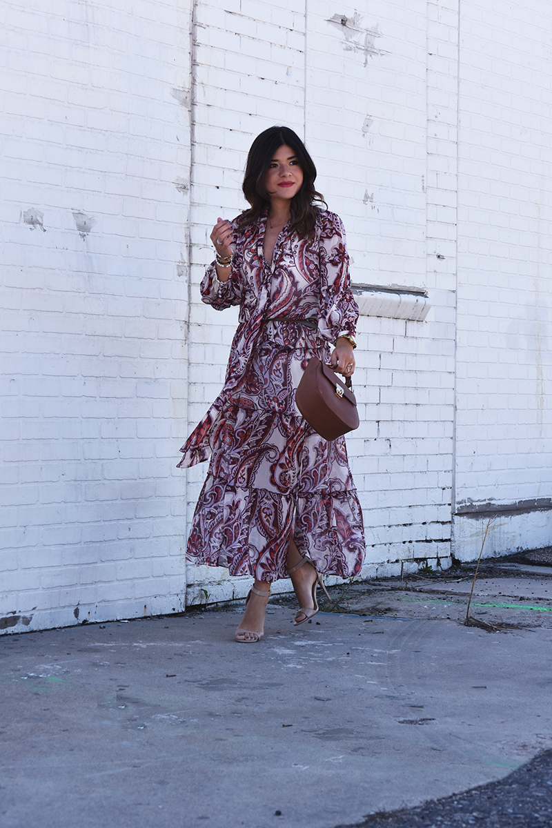 Maxi floral dress by Olivia Palermo+chelsea28
