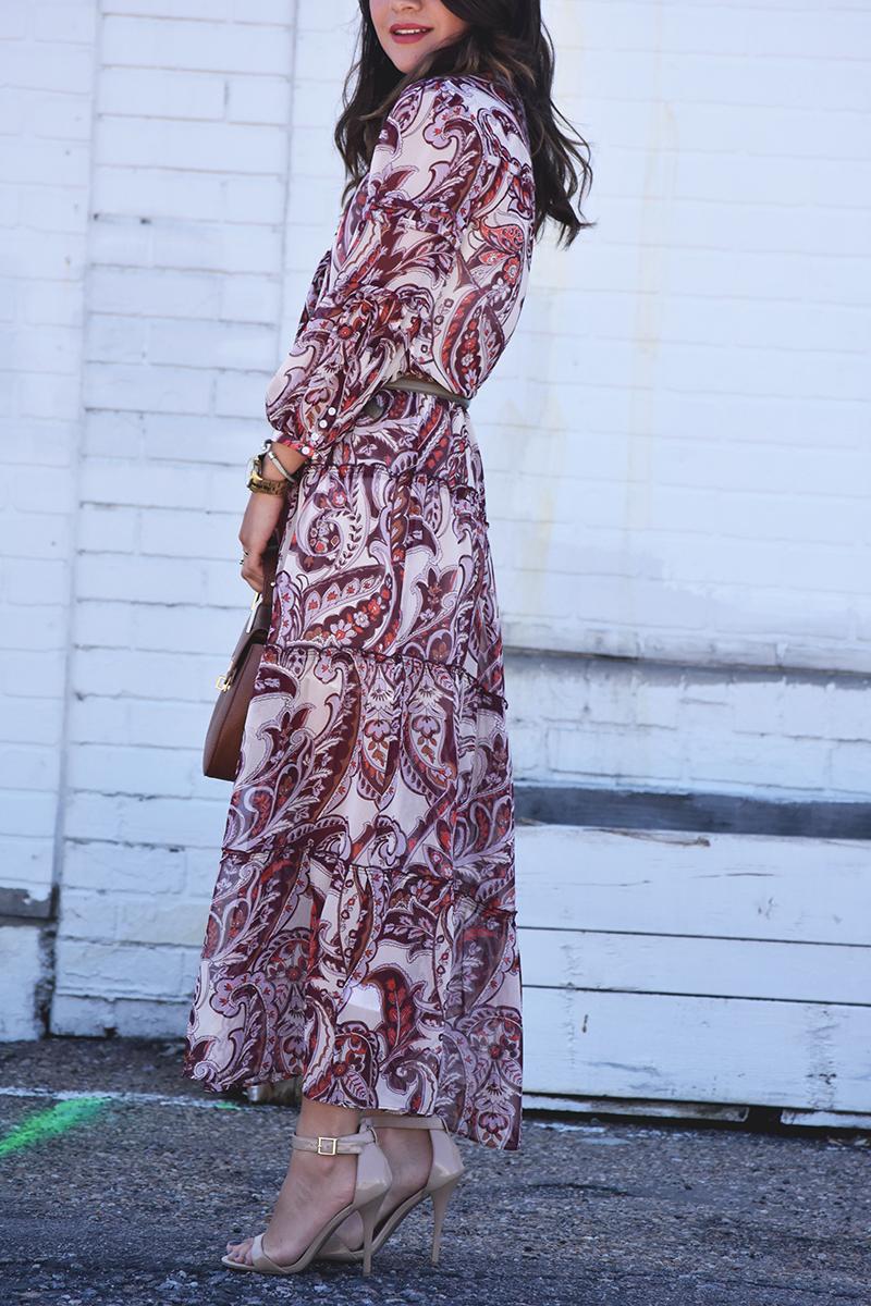 Olivia Palermo floral dress for Nordstrom
