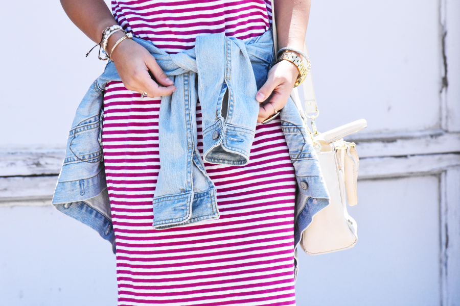 Lou and grey striped midi dress