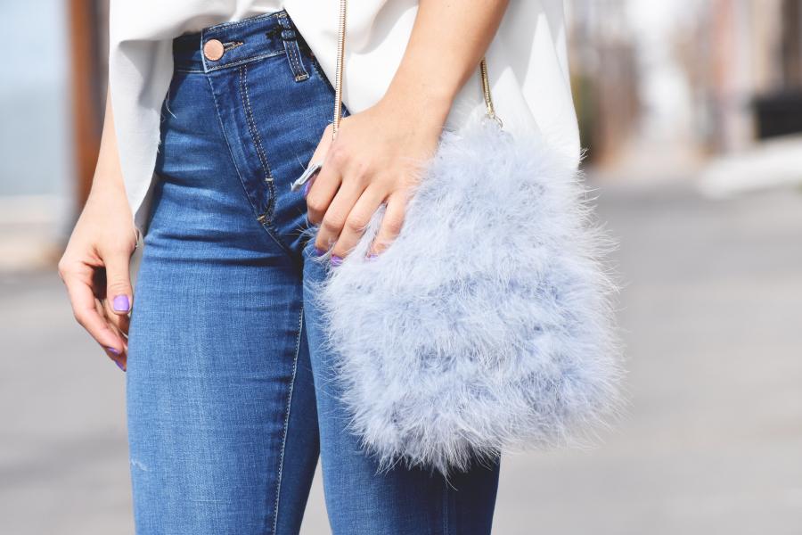 Topshop fluffy bag