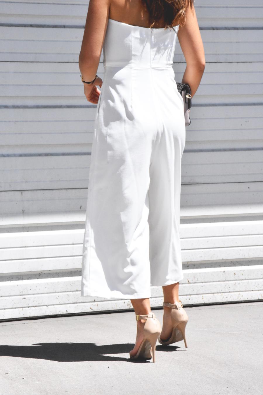 white jumpsuit back details