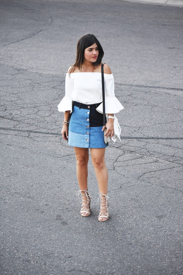 Chicwish off the shoulder white top