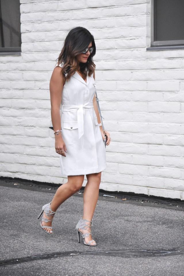 white shift dress via Bar III