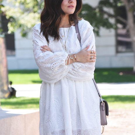 WHITE CUT OUT SUMMER DRESS