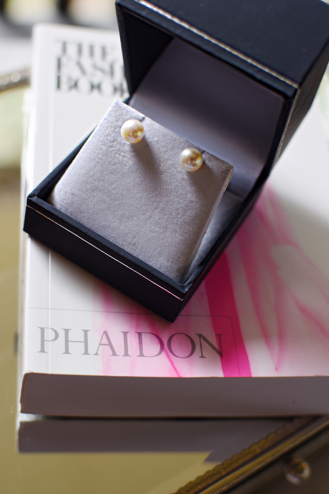 Pearl stud earrings via The Pearl Source