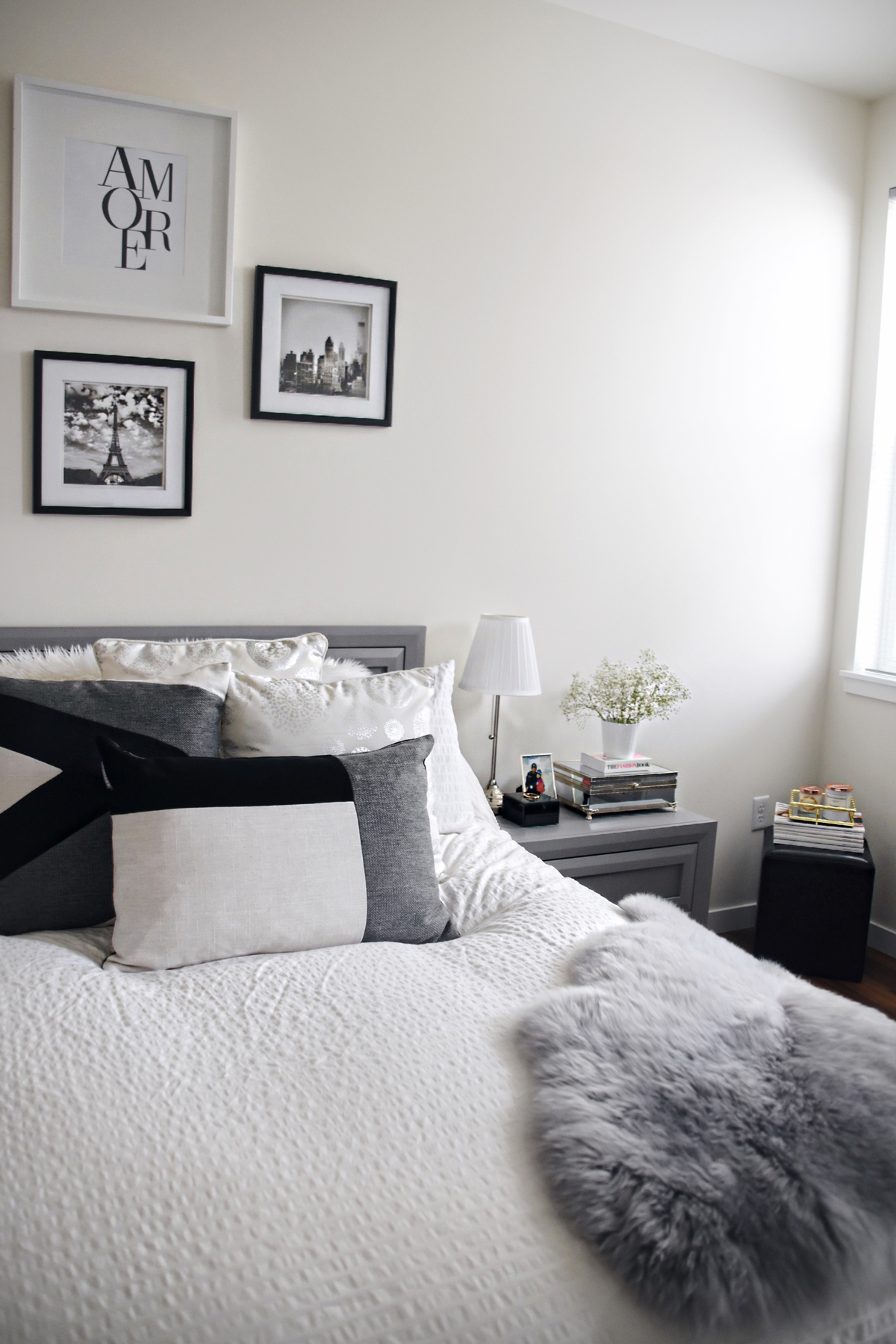 Bed room decoration with Article Velu pillow collection, and the Lanna Throw