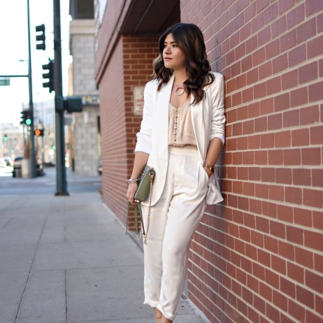 THE WHITE SUIT EVERY WOMAN NEEDS VIA THACKER NYC