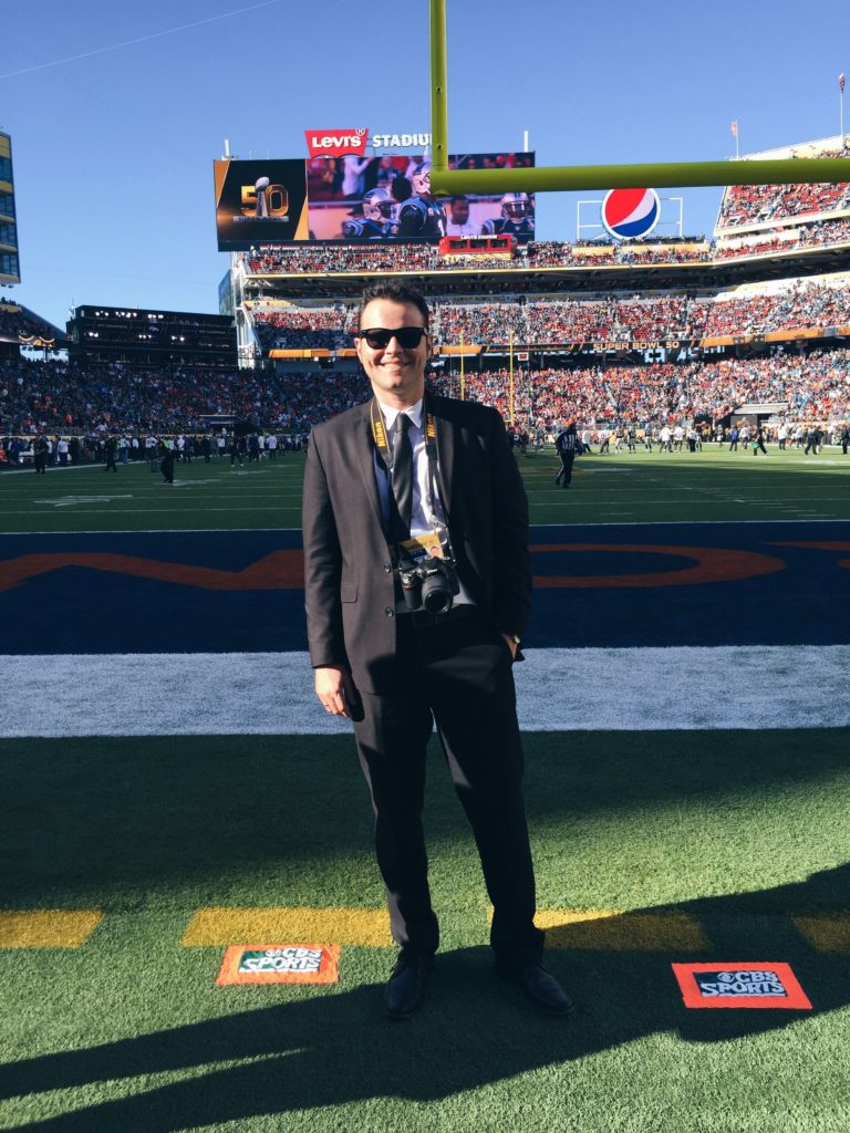 Mauricio Jaramillo Mutis at the Super Bowl 50