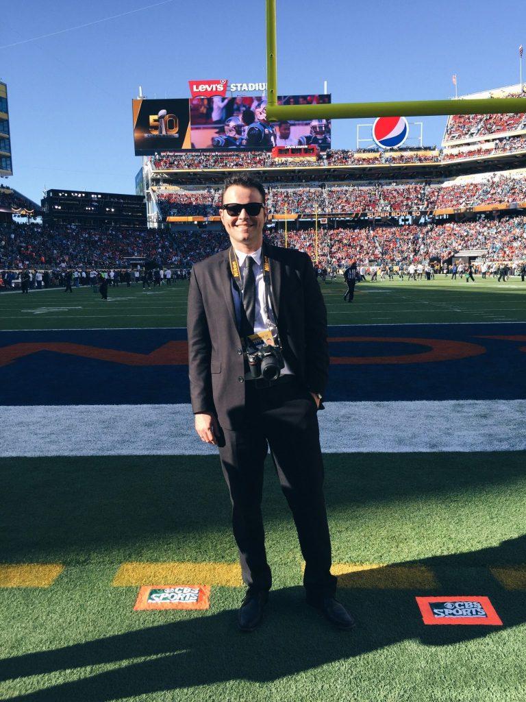 Mauricio Jaramillo Mutis at the Super Bowl 50
