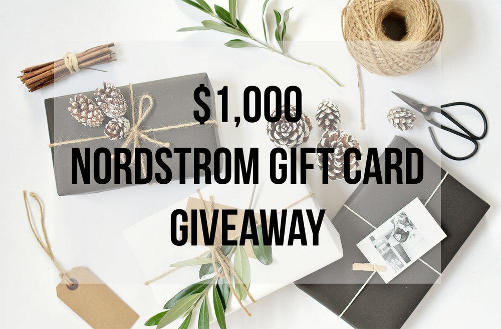 Nordstrom giftcard giveaway
