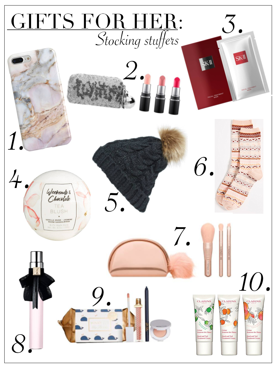 Holiday Guide featuring stocking stuffer ideas for her.