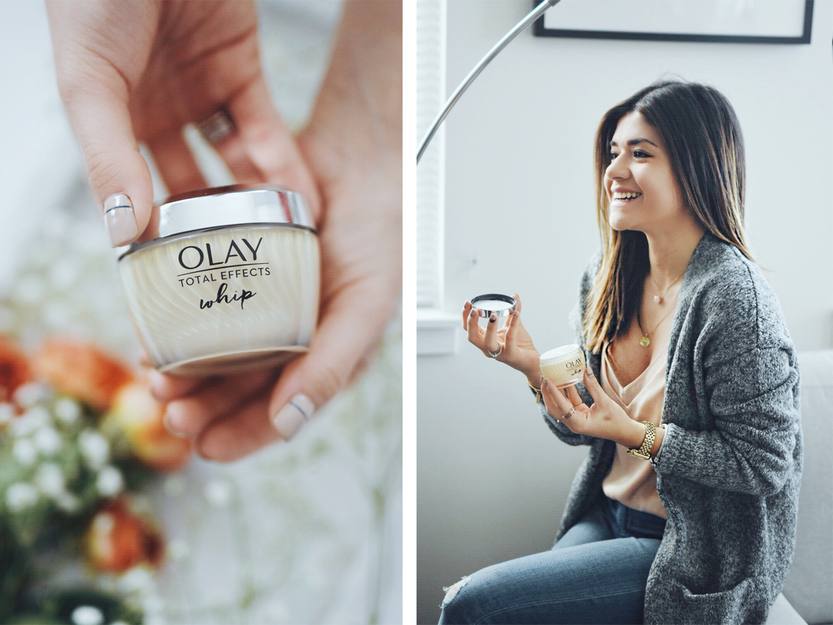 Carolina Hellal of Chic Talk trying the new OLAY Whip