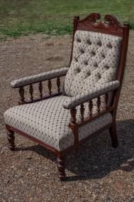 Antique Deep Button Arm Chair
