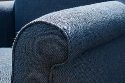 Upholstered Blue Single Chair Detail