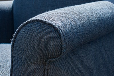Upholstered Blue Single Chair Detail