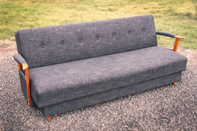 Grey Retro Converter Lounge Upholstered by Chic Upholstery
