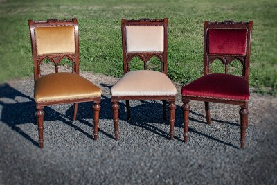 Victorian Dining Chairs upholstered by Chic Upholstery