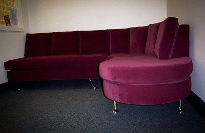 Aubergine Custom Built Waiting Room Chaise