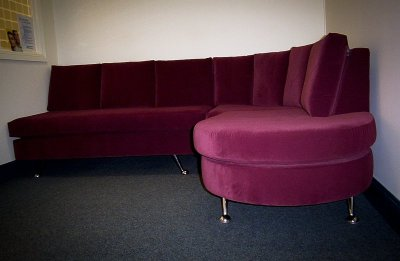 Aubergine Custom Built Waiting Room Chaise