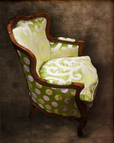 Lime Antique Chair Side View