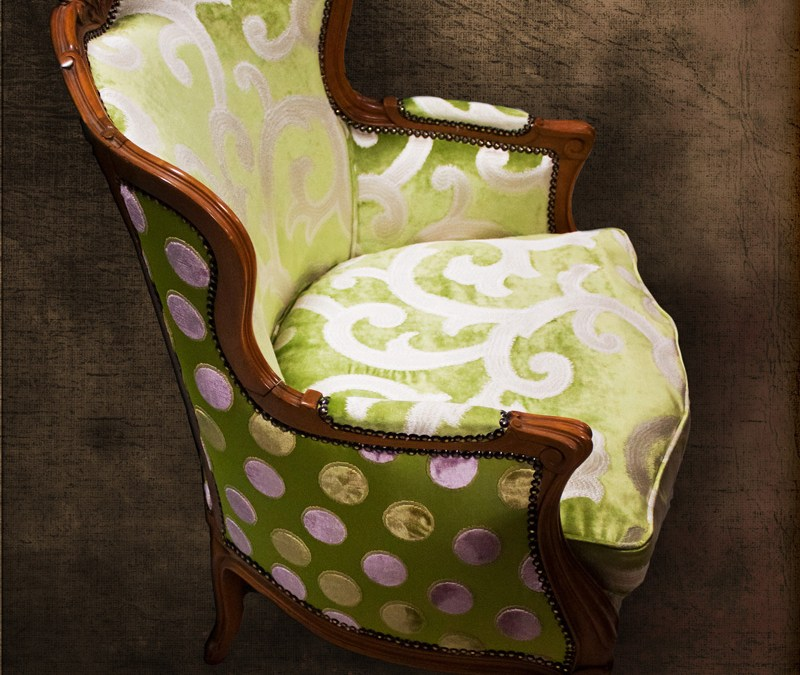 Modern Fabric on Antique