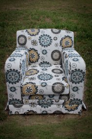 Modern Tapestry on Club Chair