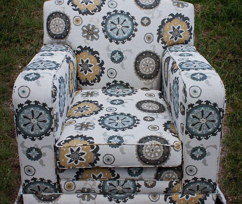 Modern Tapestry Club Chair