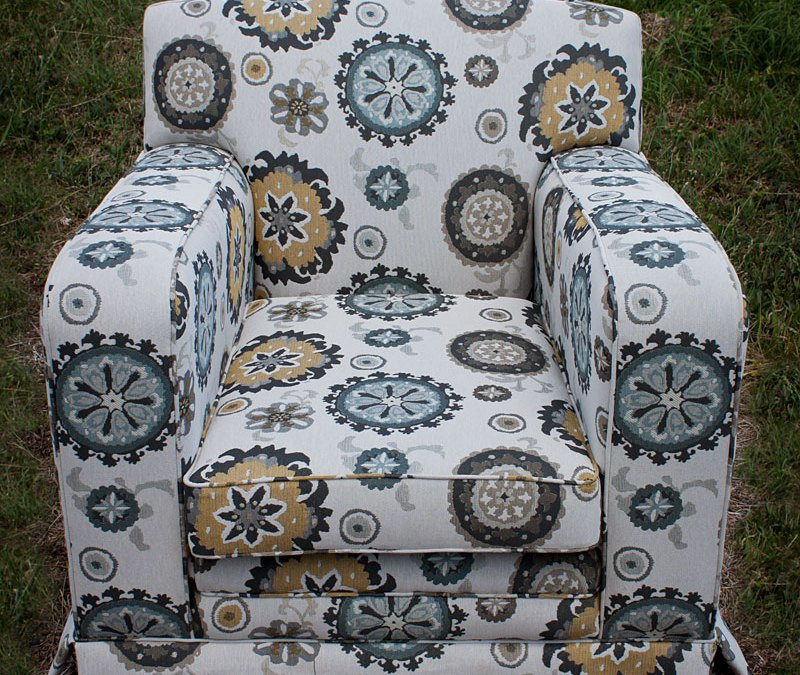 Modern Tapestry Club Chair