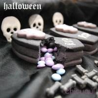 Cómo hacer galletas decoradas para Halloween: ataúdes sorpresa